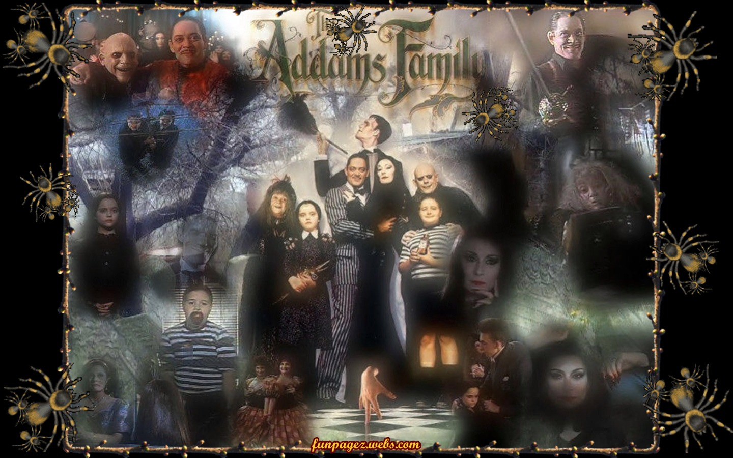 Addams Family 90s Wallpaper by Mardis Funpagez Featuring The Dark 1440x900
