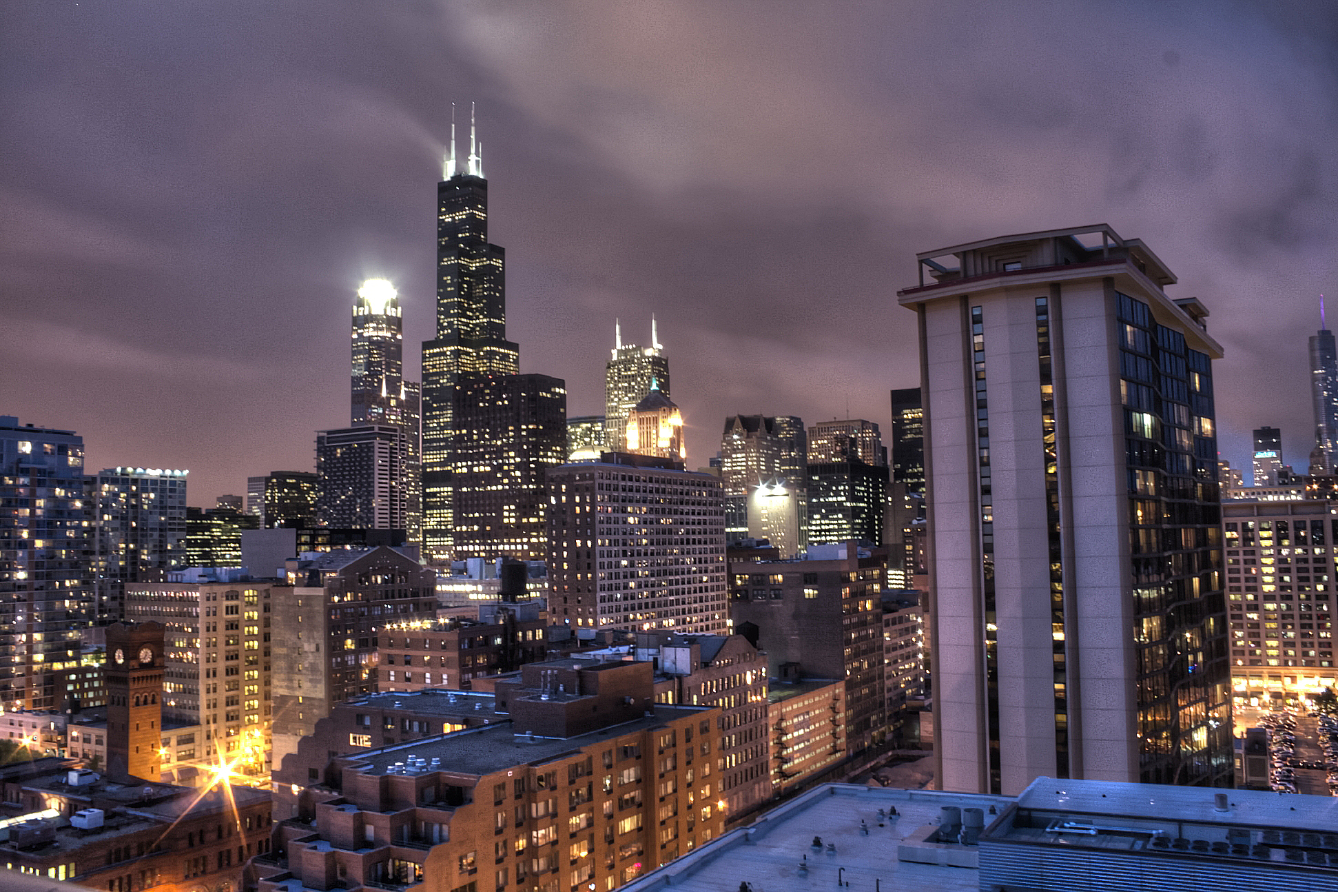 Free Download Chicago Chicago Skyline At Night 1942x1294 For