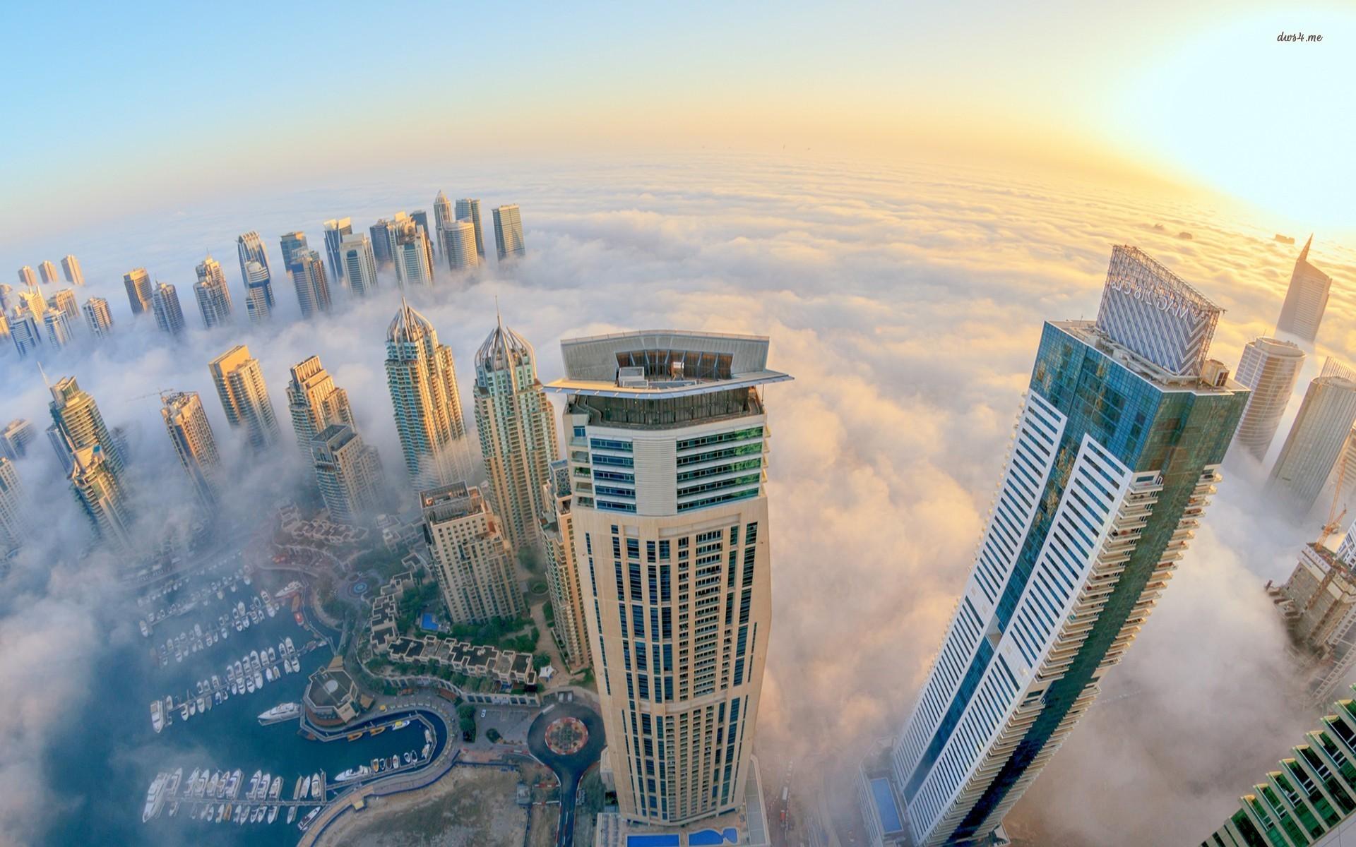 United Arab Emirates Skyscrapers Dubai Night Cities wallpaper 1920x1200