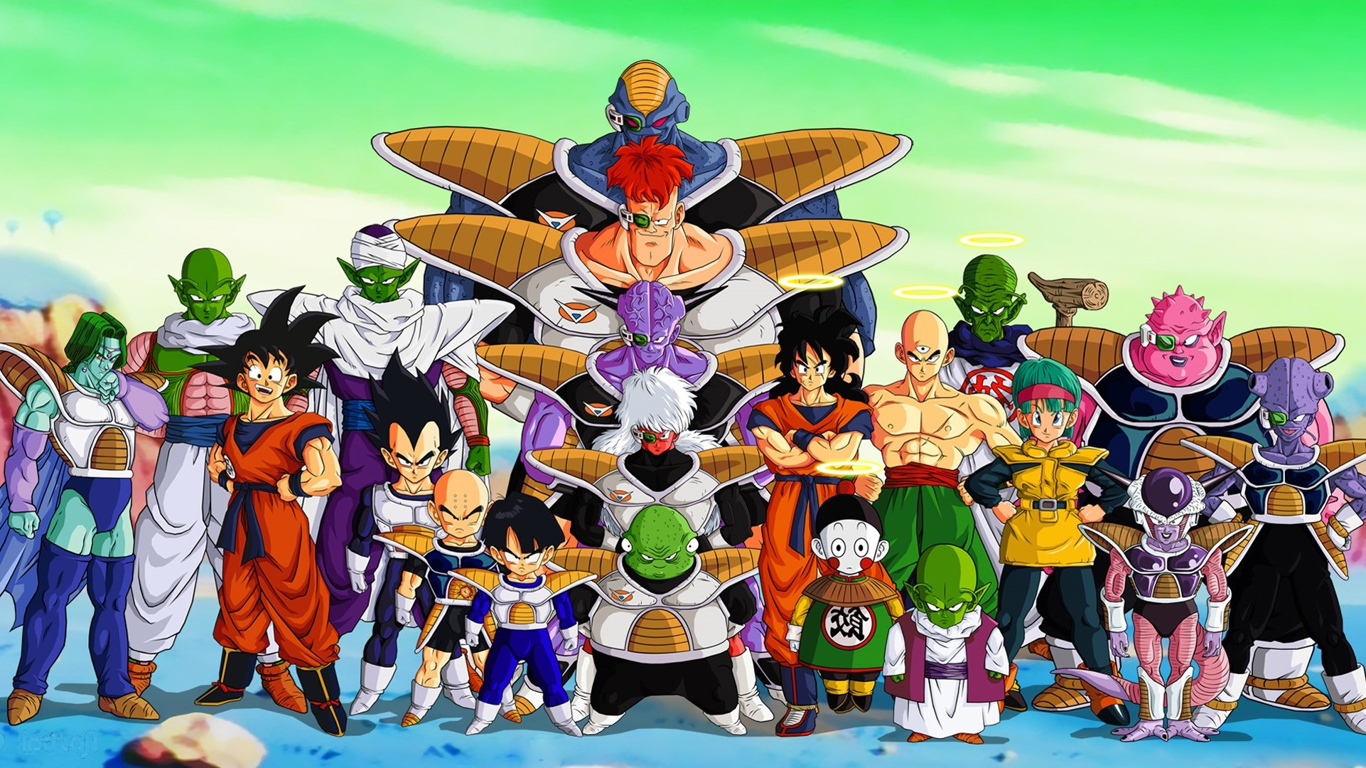 Dragon Ball Z Krillin Vegeta Piccolo Zarbon Gohan Ginyu 1922x1080