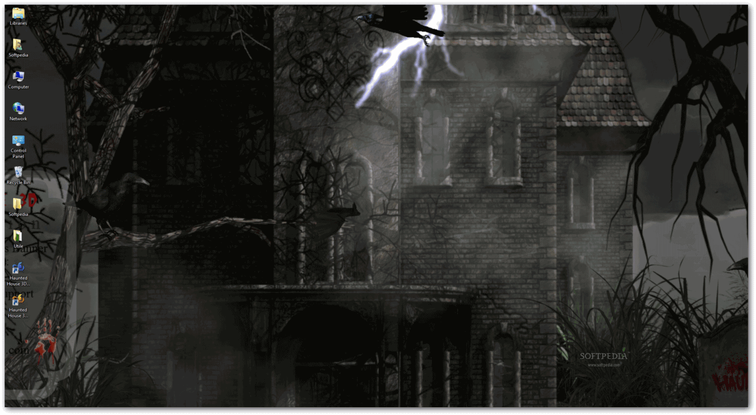 is how the Haunted House 3D The Evil Lies Within animated wallpaper 1556x854