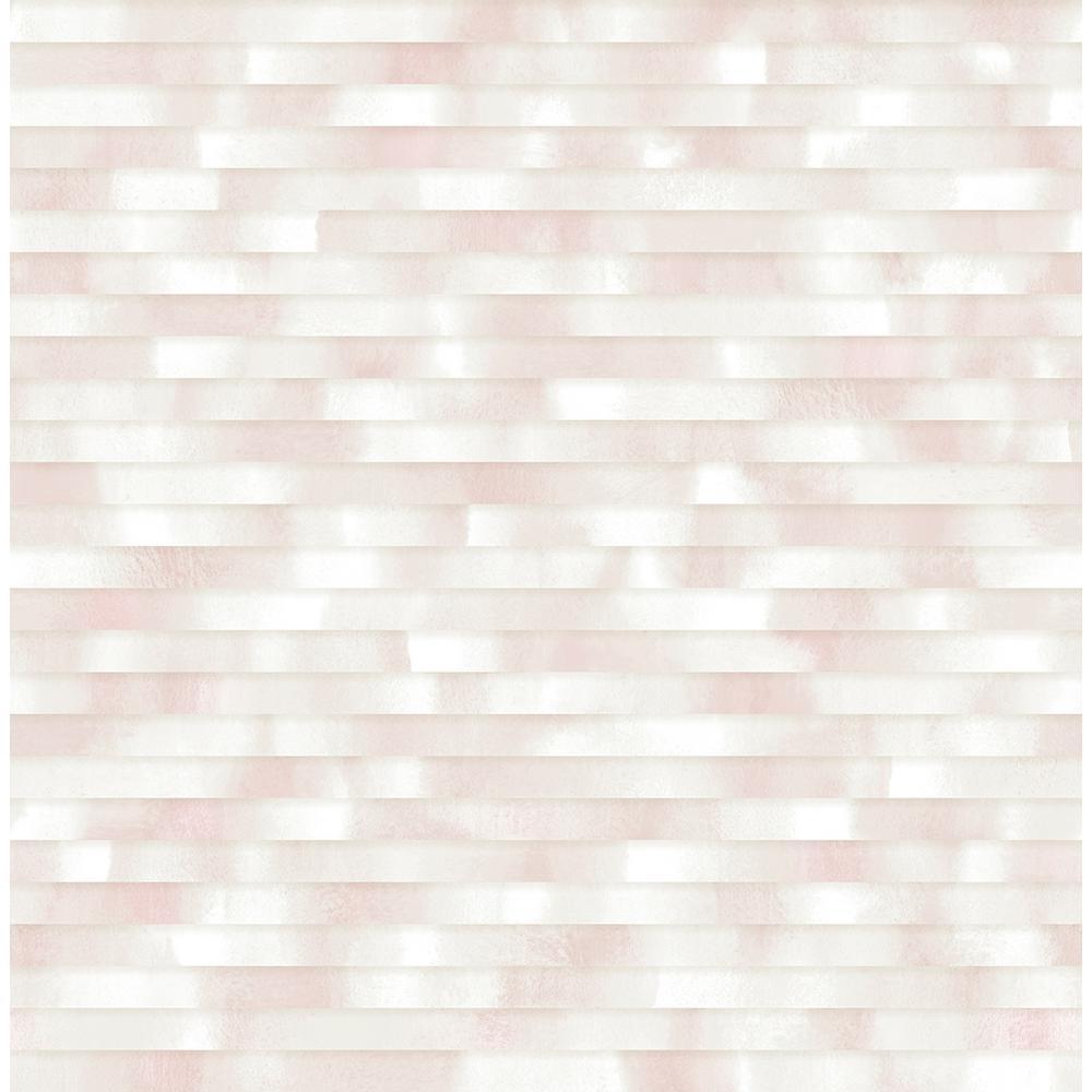 A Street 564 sq ft Kalmar Light Pink Hazy Stripe Wallpaper 2889 1000x1000