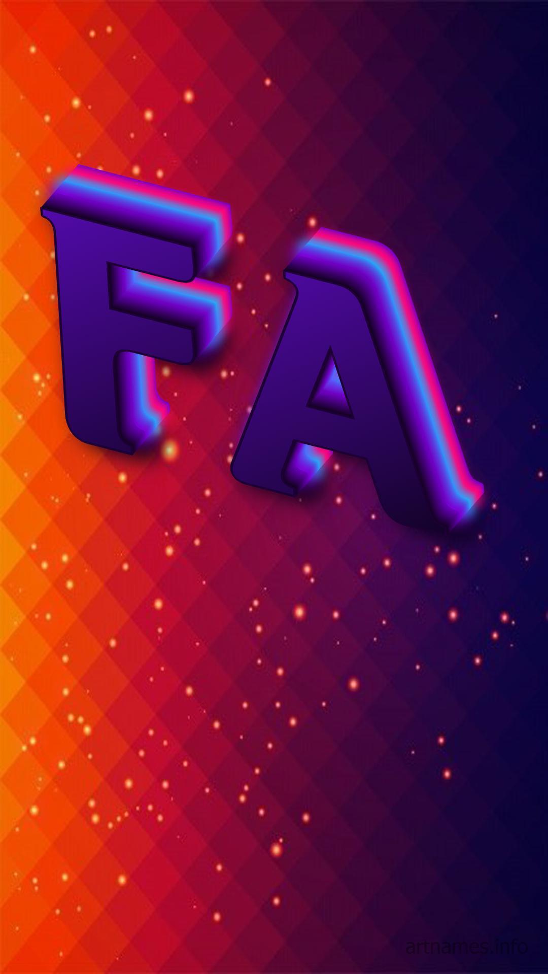 Fa as a ART Name Wallpaper ArtNames 1080x1920