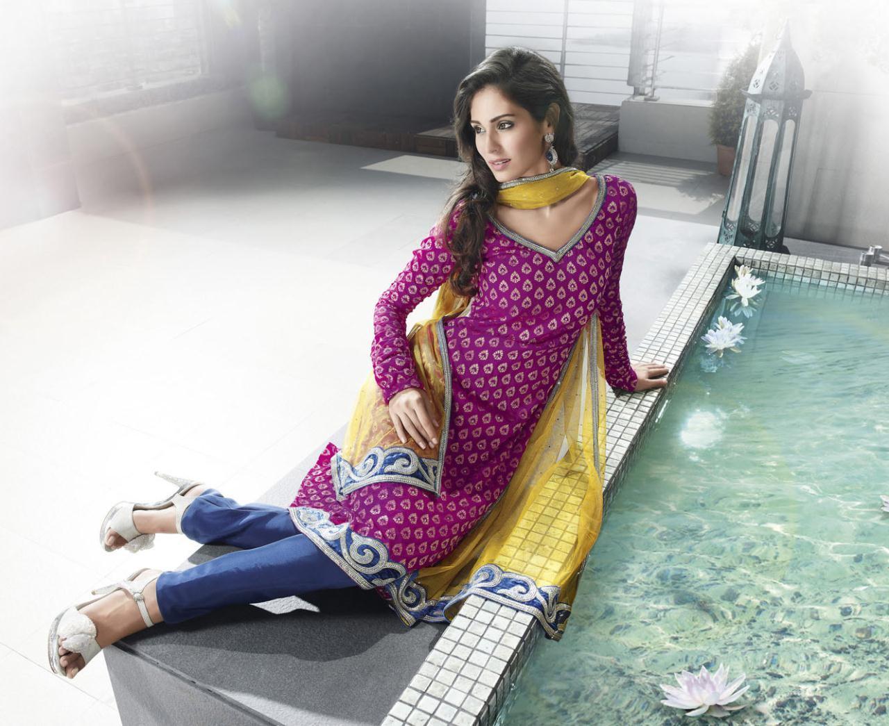 Salwar Kameez Pink HD Wallpapers Backgrounds Salwar Kameez Pink 1280x1045