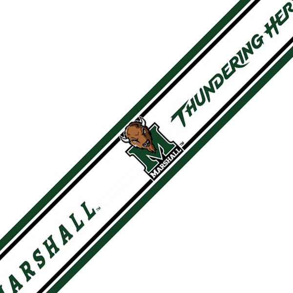 NCAA Marshall Thundering Herd Prepasted Wallpaper Border contemporary 600x600