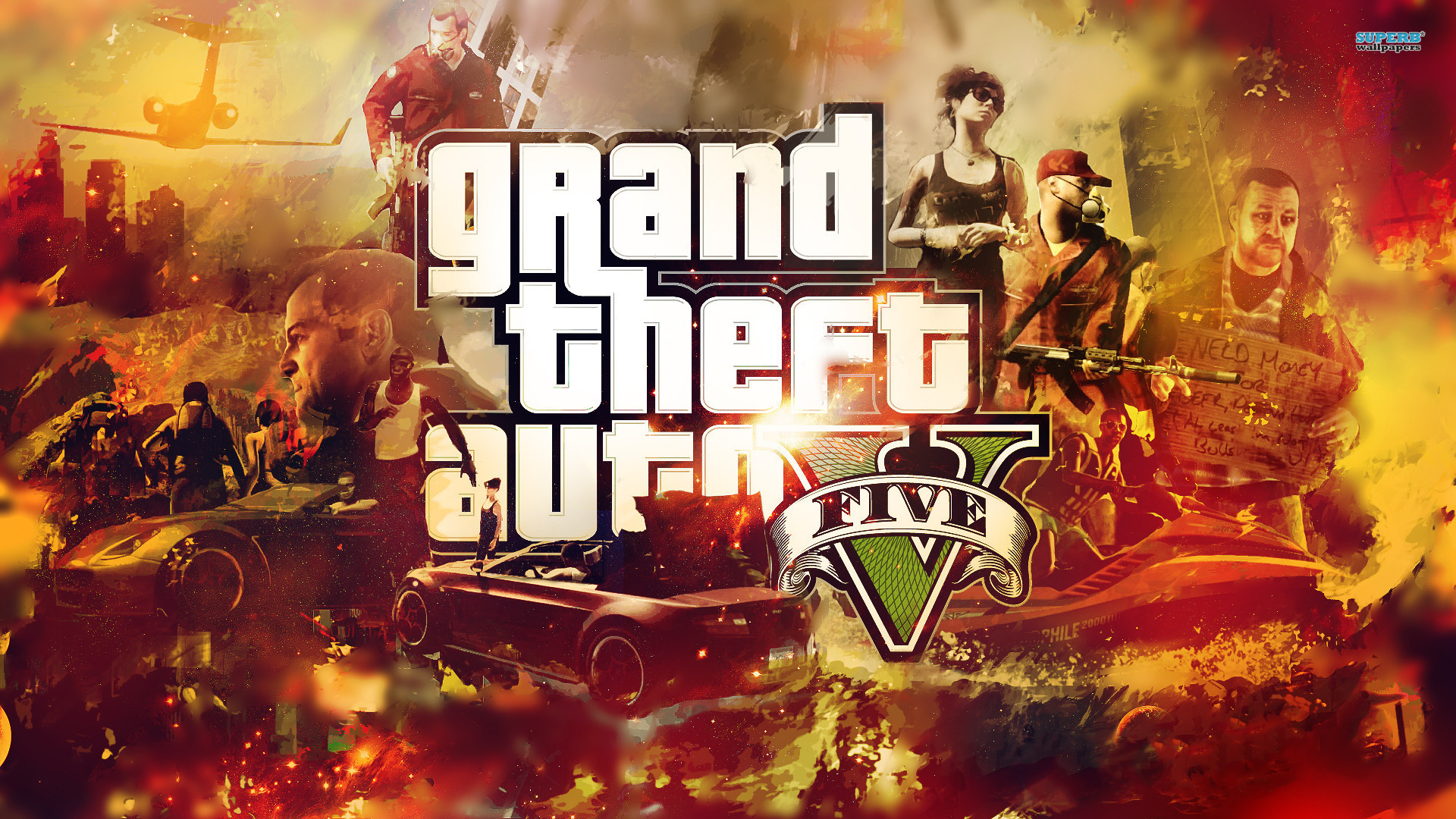Grand Theft Auto V Wallpapers Hintergrnde 1920x1080 ID439638 1920x1080