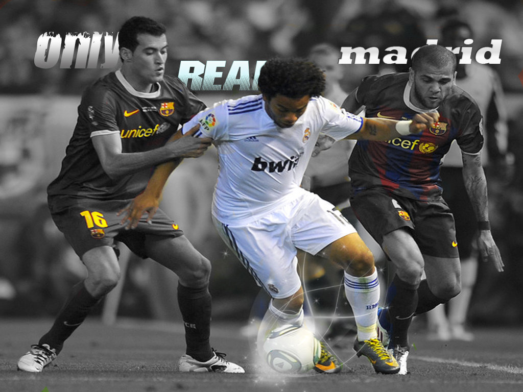 Real Madrid Vs Barcelona Wallpaper   Football Wallpaper HD Football 1024x768