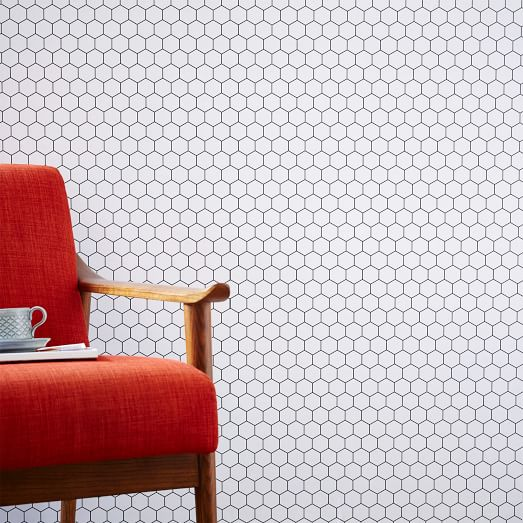 Chasing Paper Honeycomb Tile Wall Panel west elm 523x523