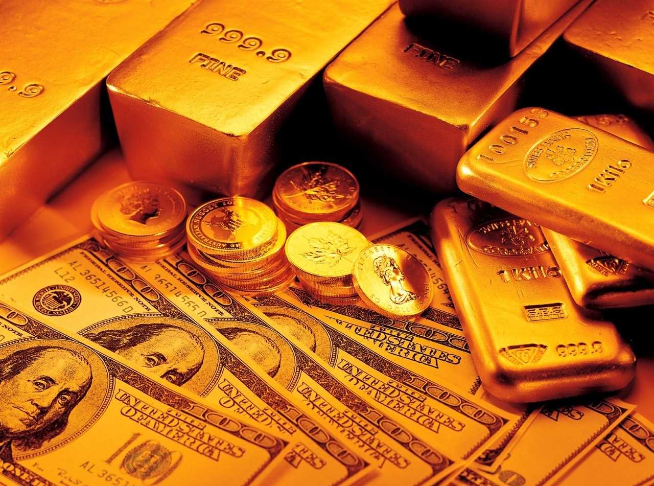 Wallpapers Box Money And Gold Bars HD Wallpapers 1280x951