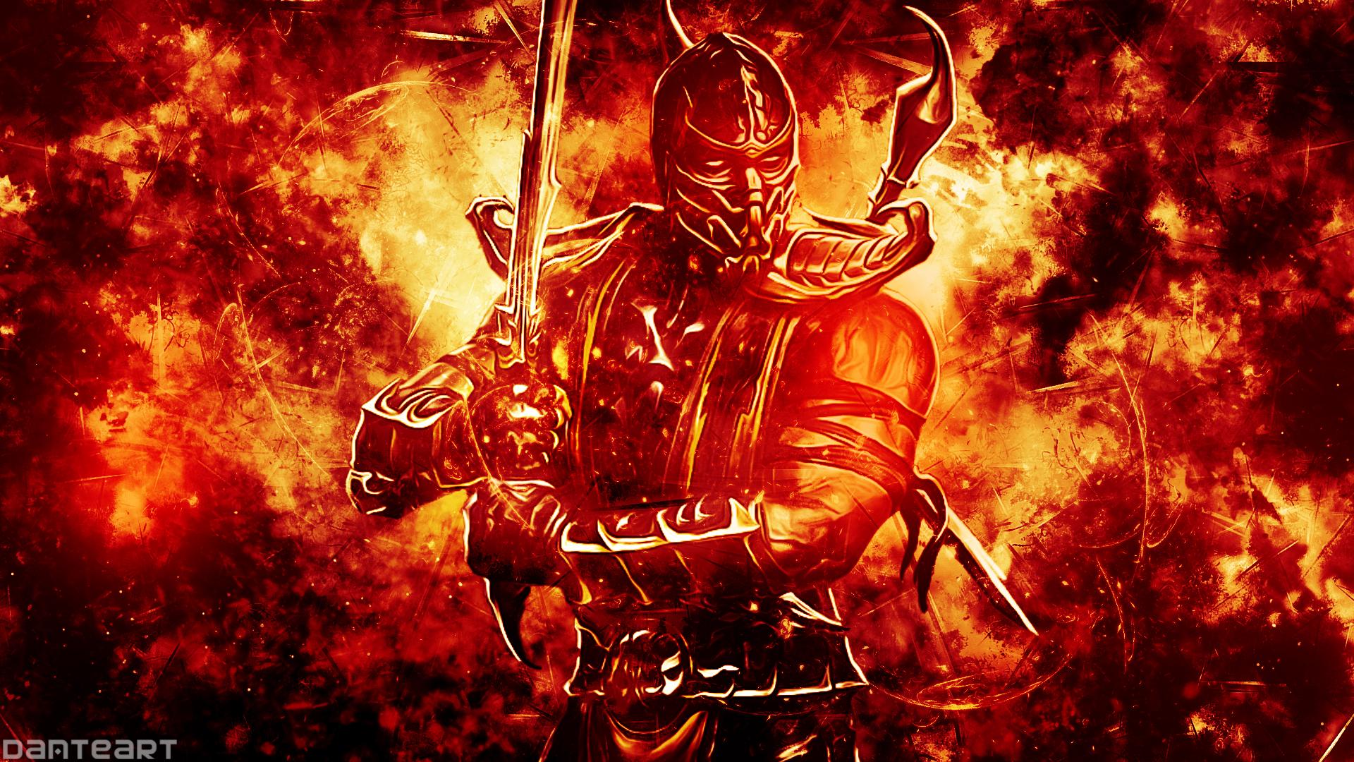 Mortal Kombat Scorpion Wallpaper by DanteArtWallpapers on 1920x1080