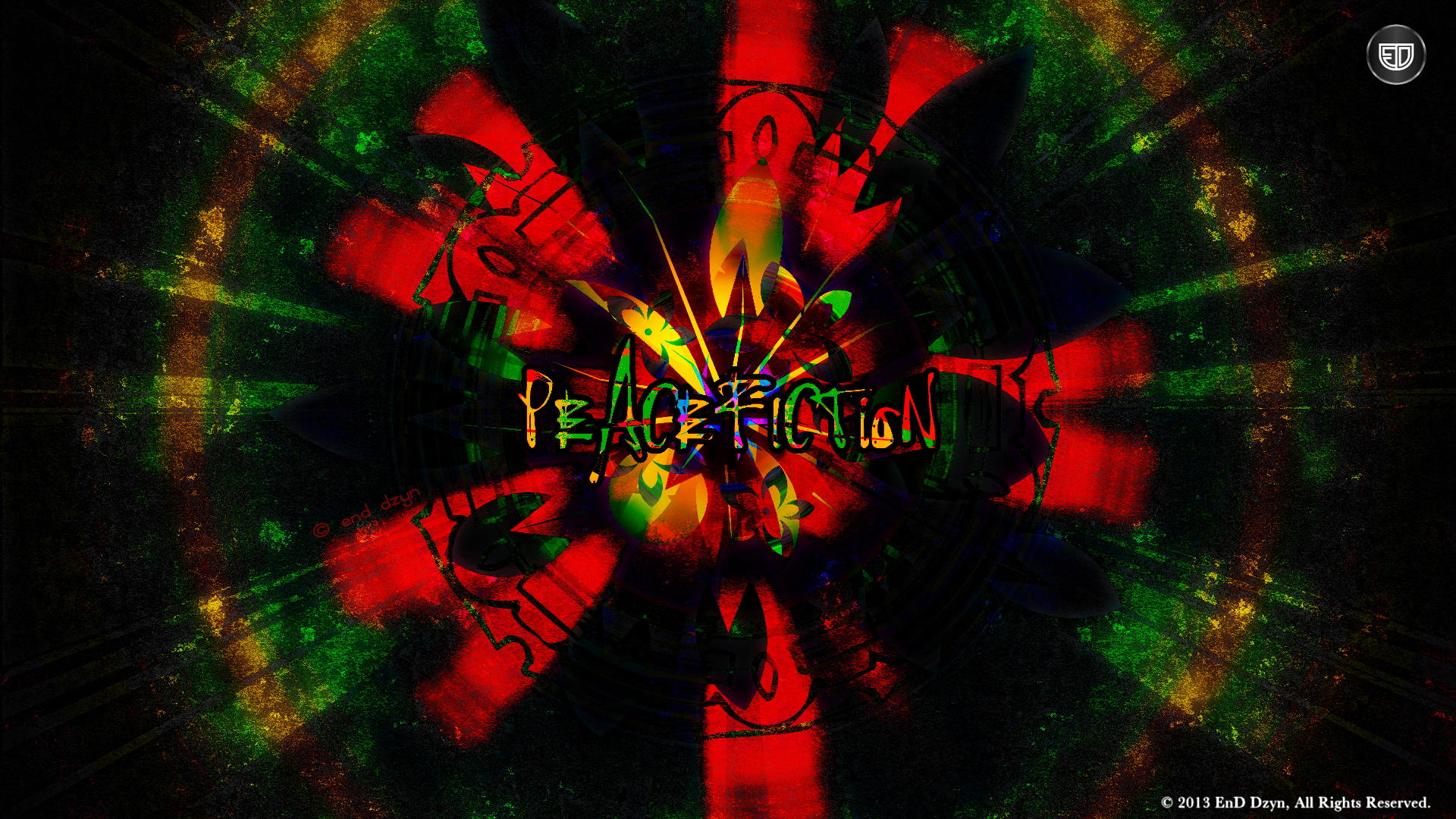 Peacefiction Graffiti Abstract HD Wallpaper Backgrounds   EnD Dzyn 1920x1080