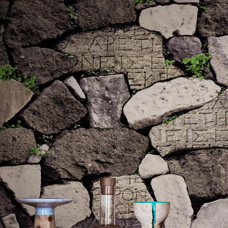Style Stone Wallpaper PVC waterproof Stone Background Wallpaper Roll 739x738