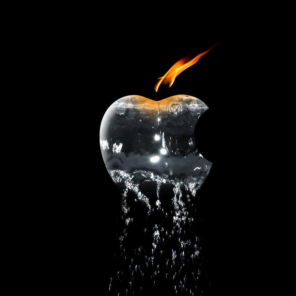 apple 3d logo hd wallpaper - wallpapersafari