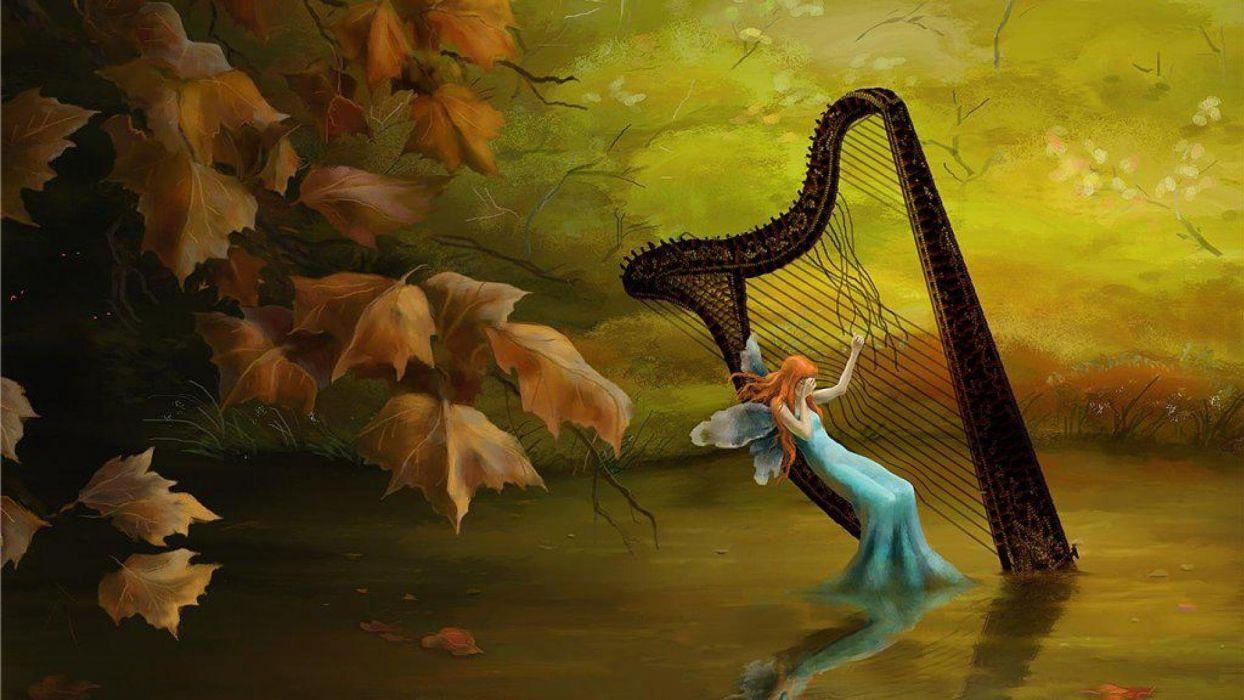 ARTS   fairy harp tears october wallpaper 1920x1080 669898 1244x700