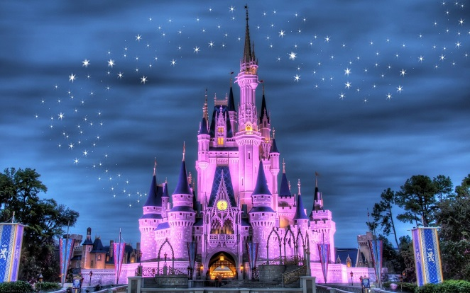 Childrens Wallpaper Disney Wallpaper Castle Wall Mural 662x414
