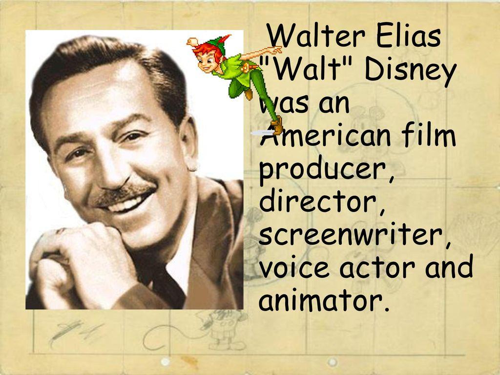 Walt disney american animator film director actor screenwriter 1024x768