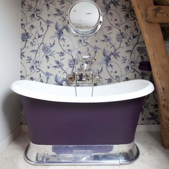 Bathroom wallpaper Bathroom decorating ideas Bathrooms Bathroom 550x550