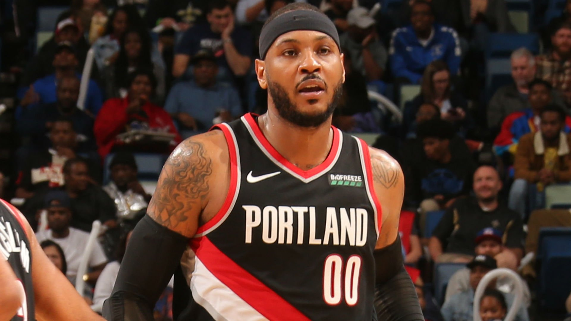 How did Carmelo Anthony look in his debut with the Portland Trail 1920x1080