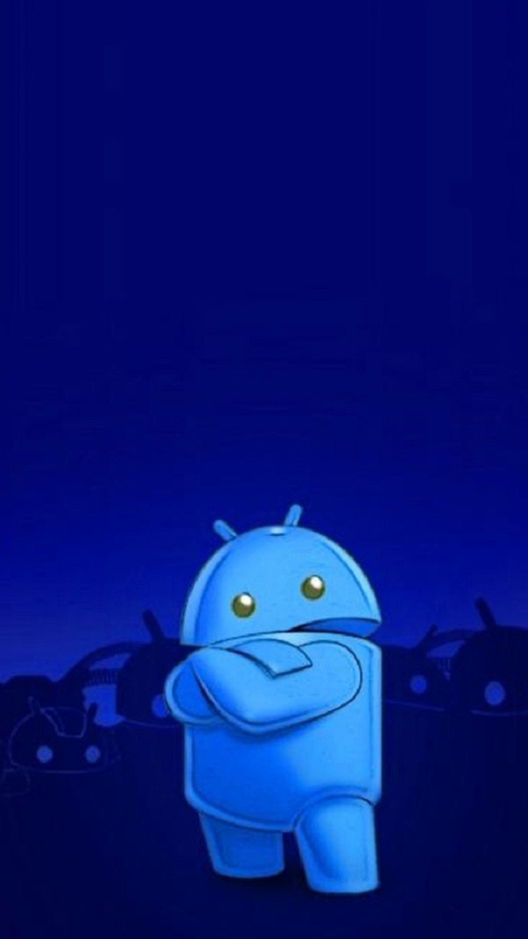 Blue Android LOGO 02 Galaxy S5 Wallpapers HD 1080x1920