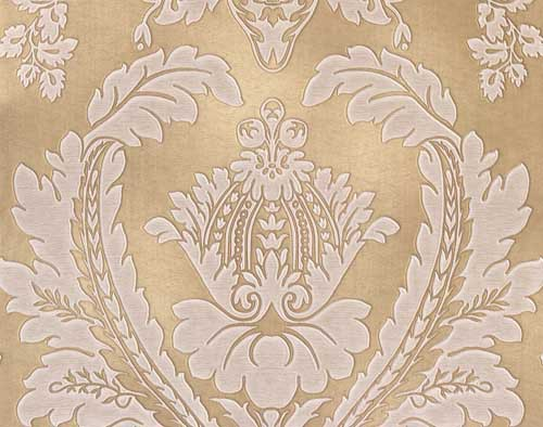 Home Belgravia Gold and Cream damask 500x394