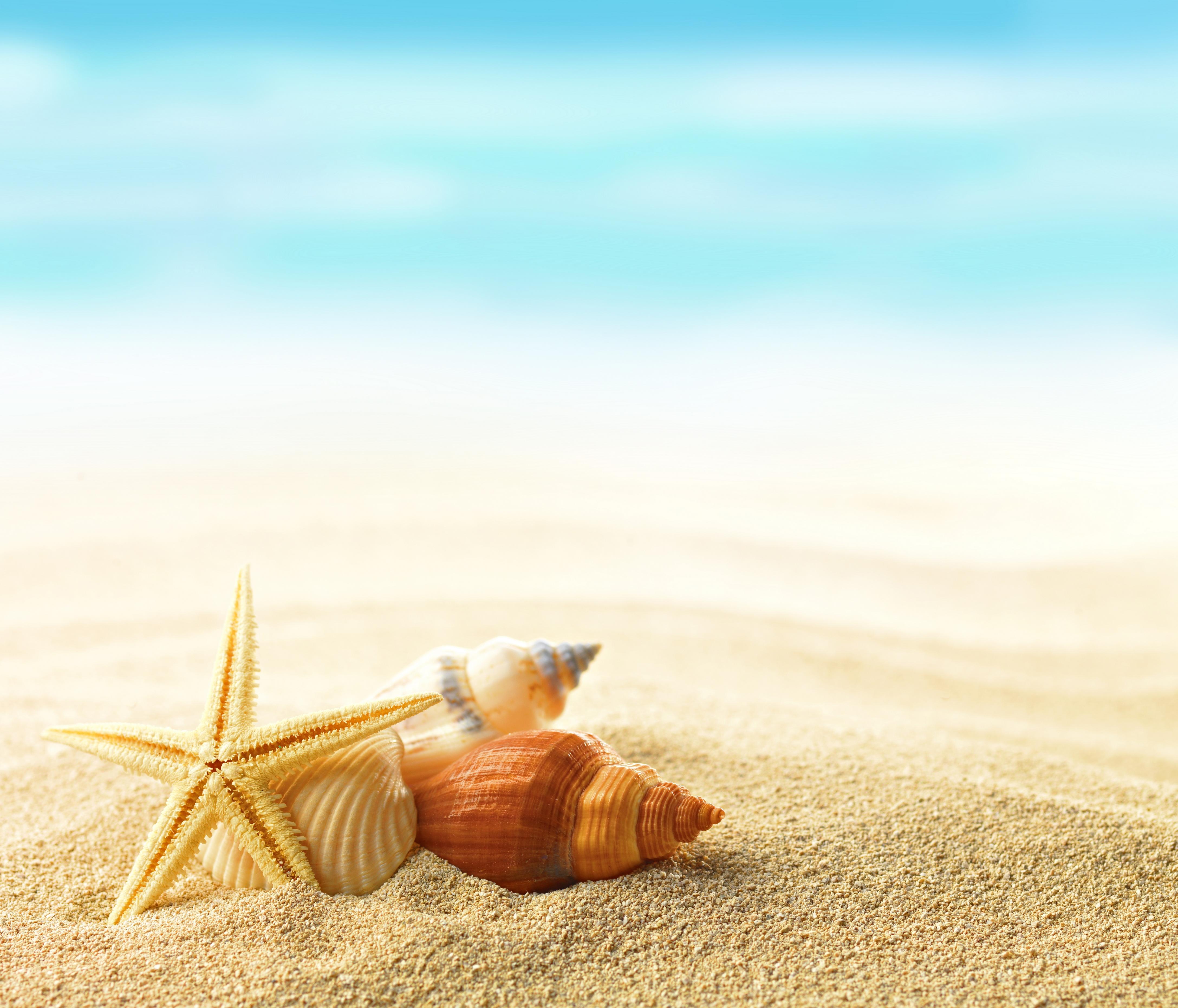 Пляж с желтыми зонтами  № 1497457 бесплатно