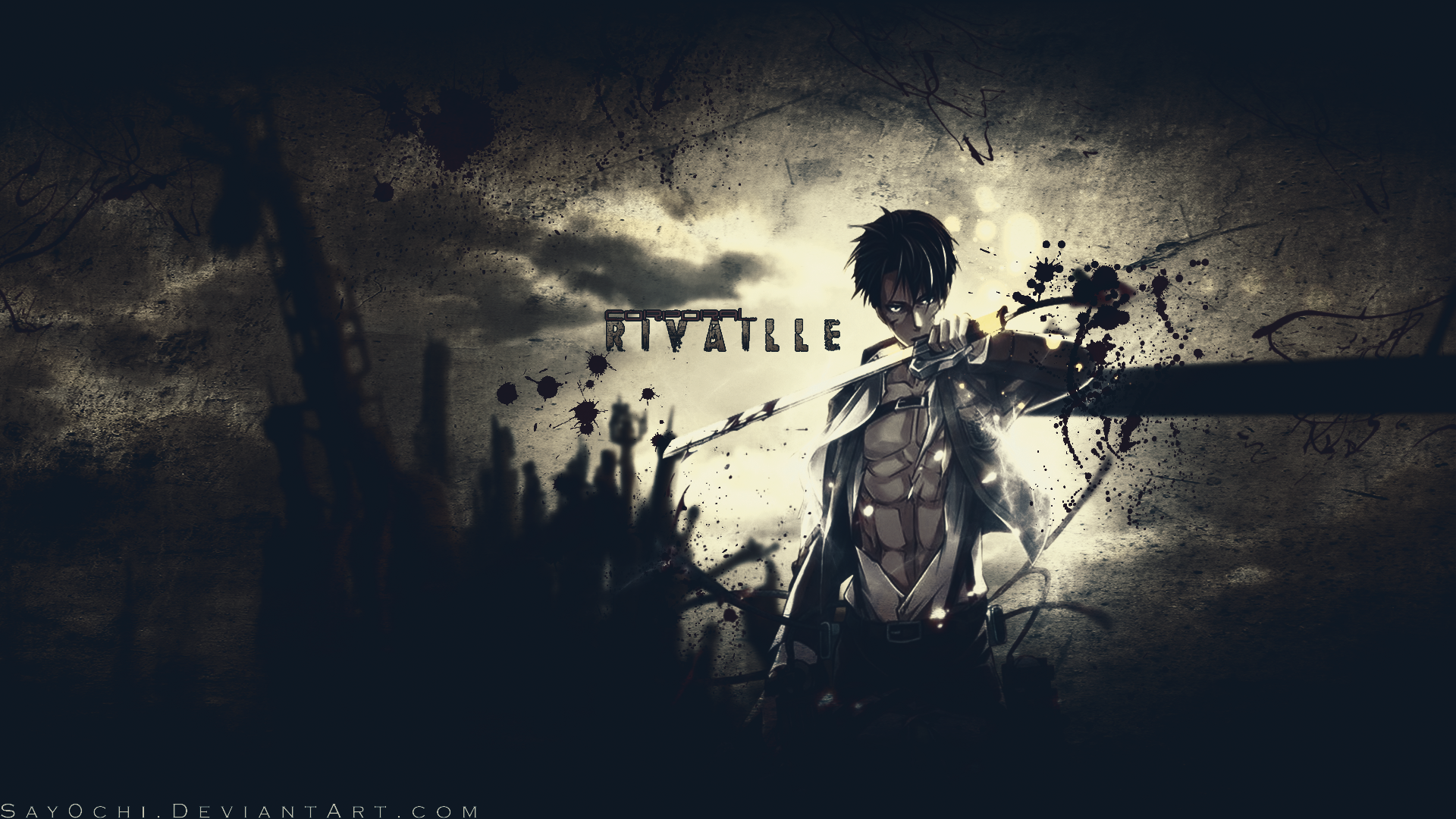 Corporal Rivaille Shingeki no Kyojin Wallpaper by Say0chi on 1920x1080