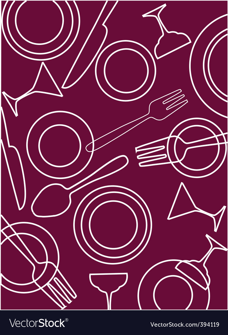 Dining table background Royalty Vector Image 738x1080