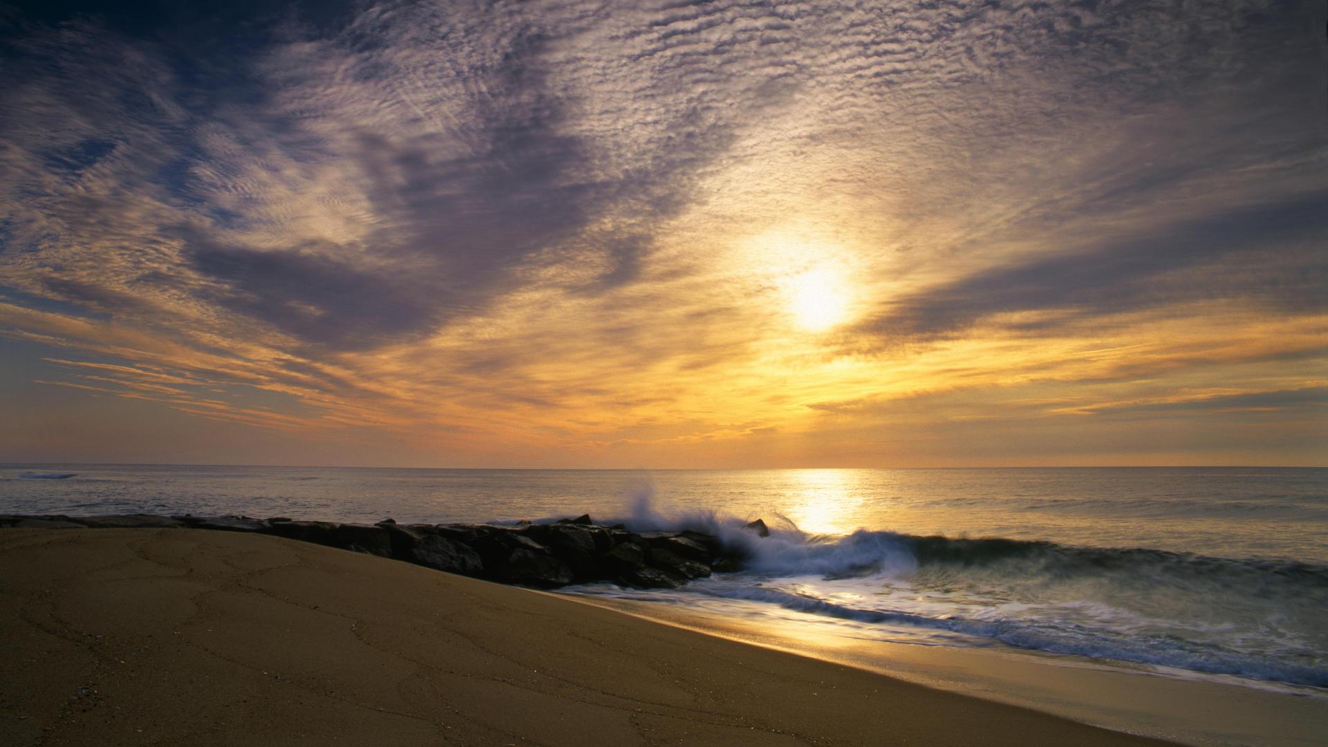 backgrounds desktop city ocean maryland surf crashing beach 1920x1080