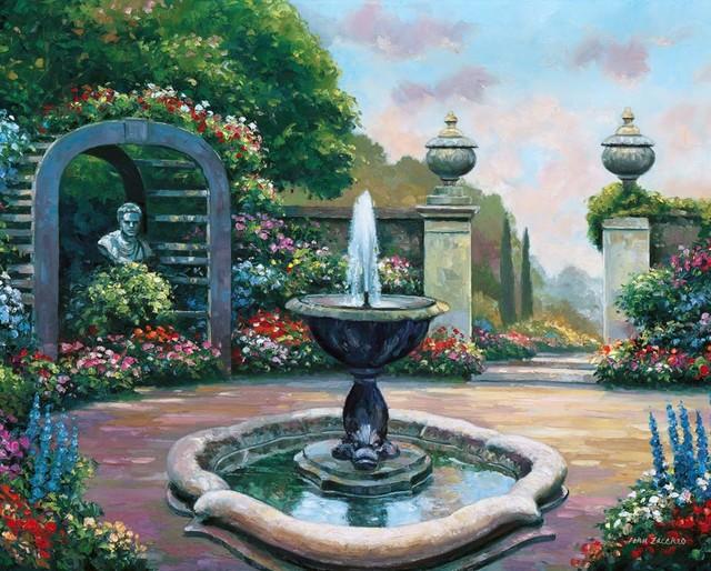 Renaissance Garden Wall Mural   Traditional   Wallpaper   by Murals 640x514