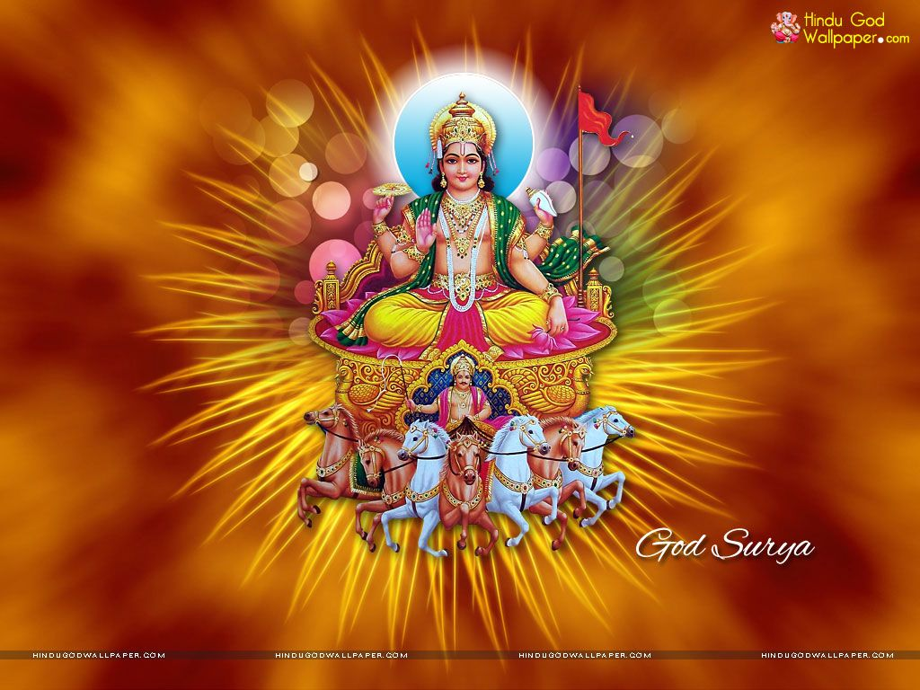 Lord Surya Dev Wallpaper download for desktop with HD full 1024x768