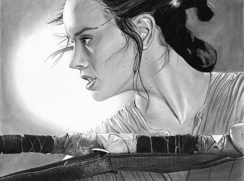 Rey Star Wars Daisy Ridley by cfischer83 800x595