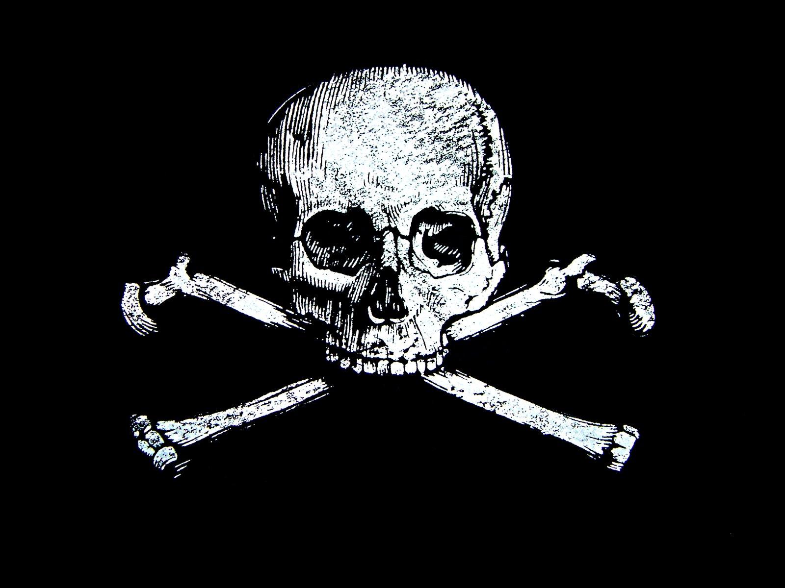 skull and bones wallpaper   wallpapersafari