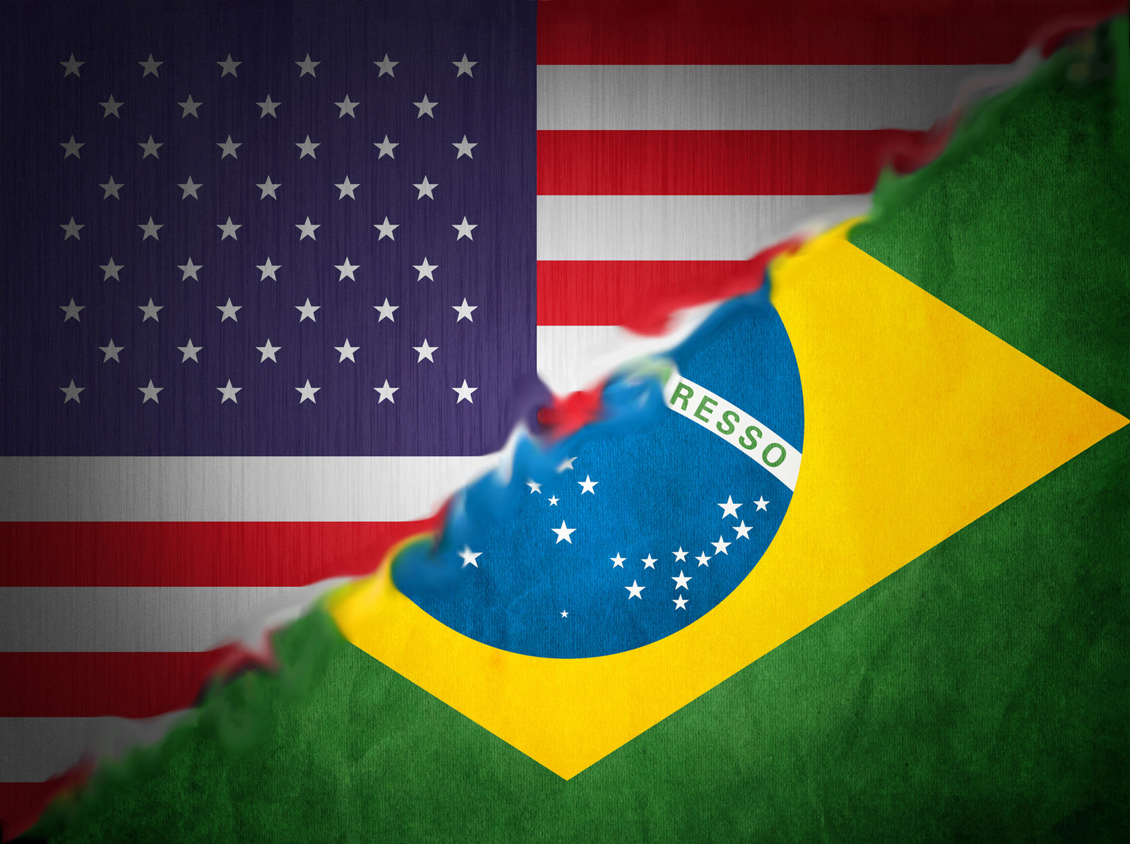 Brazil Usa Flag