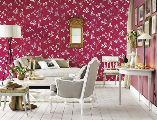 With Beautiful Wallpaper Wallpaper For Walls Home Decoration Ideas 540x412