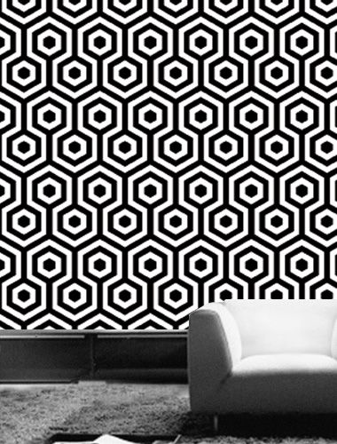 The 10 Coolest Black and White Geometric Wallpapers Tres Tintas 380x500