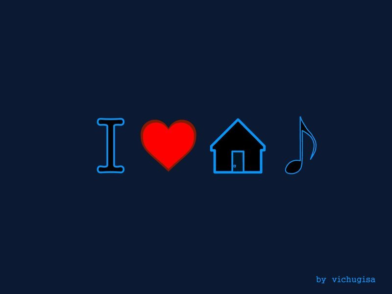 Free Download Wallpapers On I Love House Music Deviantart