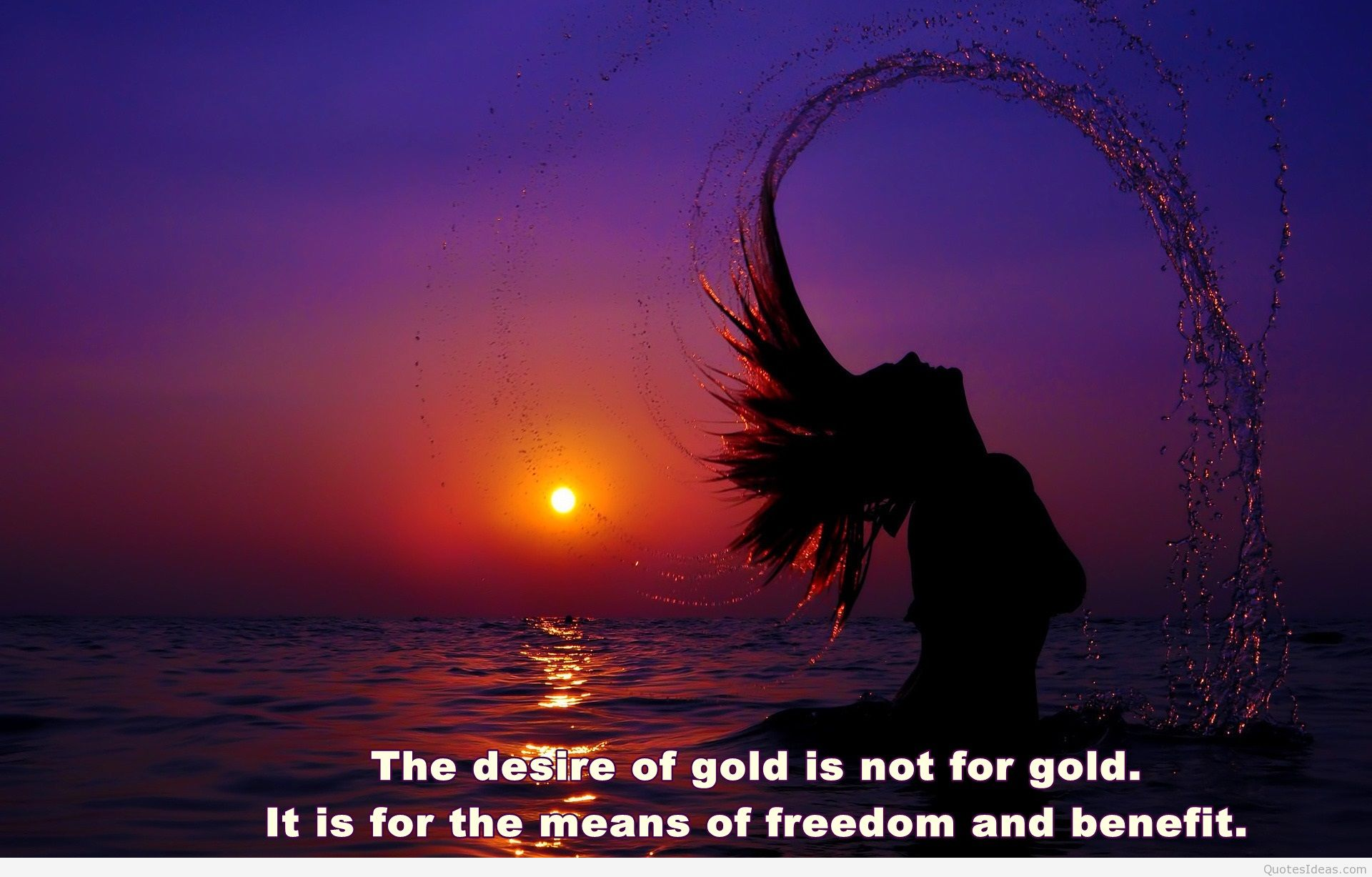 Sunset freedom wallpaper hd quote Pintast 1920x1227