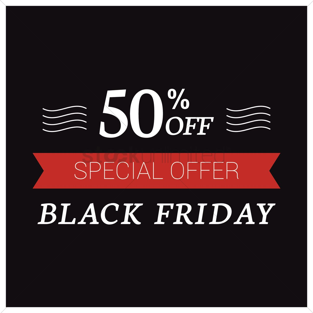 Black friday sale wallpaper Vector Image   1583541 StockUnlimited 1300x1300