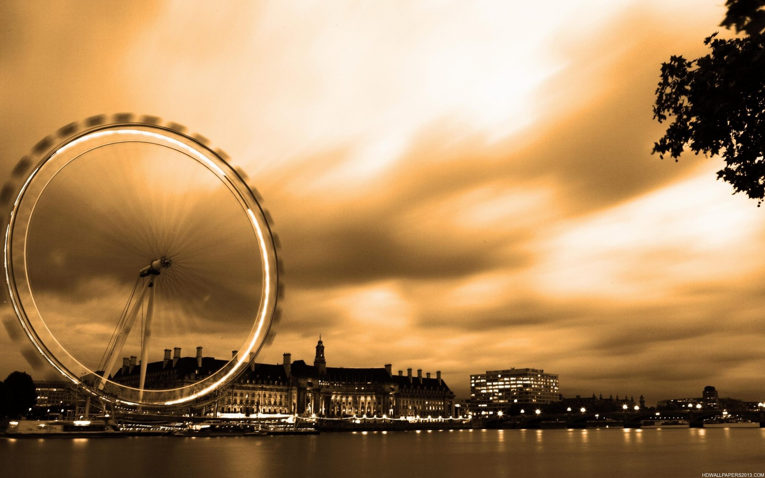 London Eye in Special Effects High Definition Wallpapers High 2560x1600