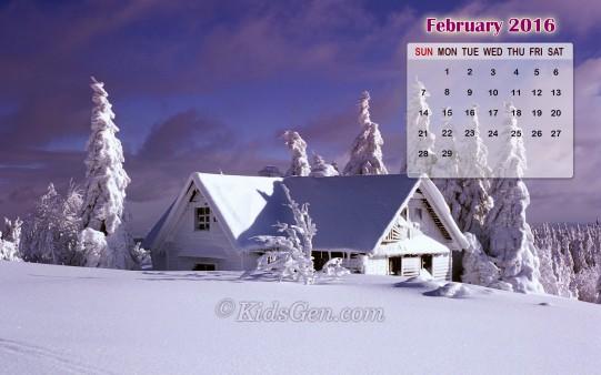 Winter Landscape on February 2016   Kidsgen Wallpaper 541x338