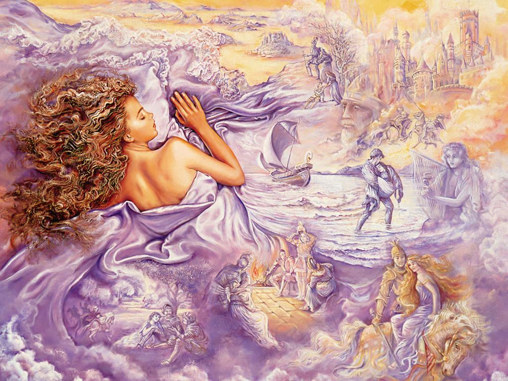 Josephine Wall oil painting   Art Paintings 1024x768