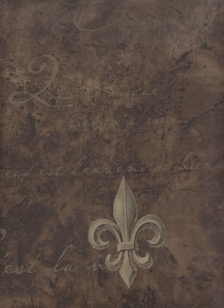 Architectural Wallpaper Fleur de Lis Sidewall Chocolate Brown 745x1023
