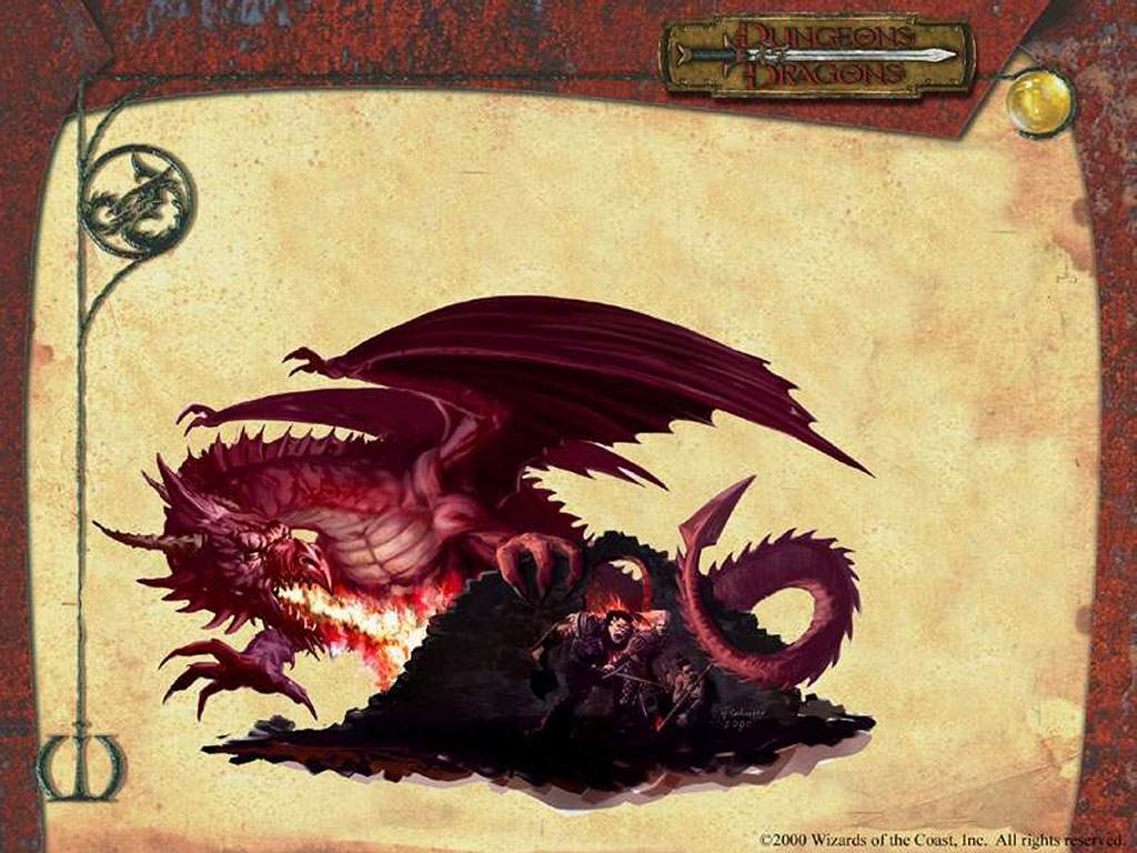 My Wallpapers   Fantasy Wallpaper Dungeons and Dragons   Dragon 1024x768