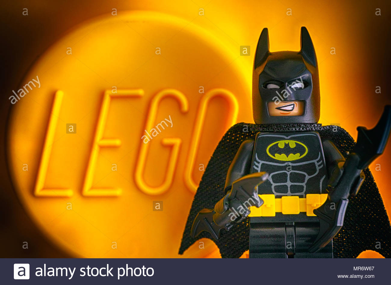 Tambov Russian Federation   May 20 2018 Lego Batman minifigure 1300x949