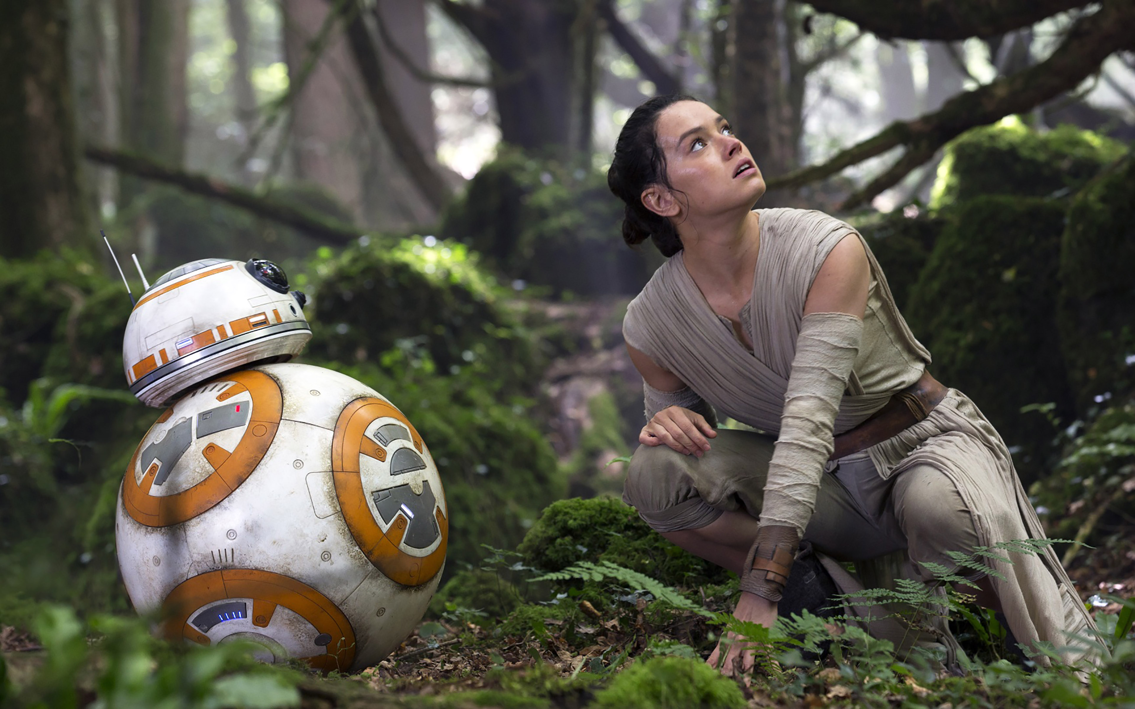 BB8 Rey Star Wars The Force Awakens Movie Wallpaper WallpapersByte 3840x2400
