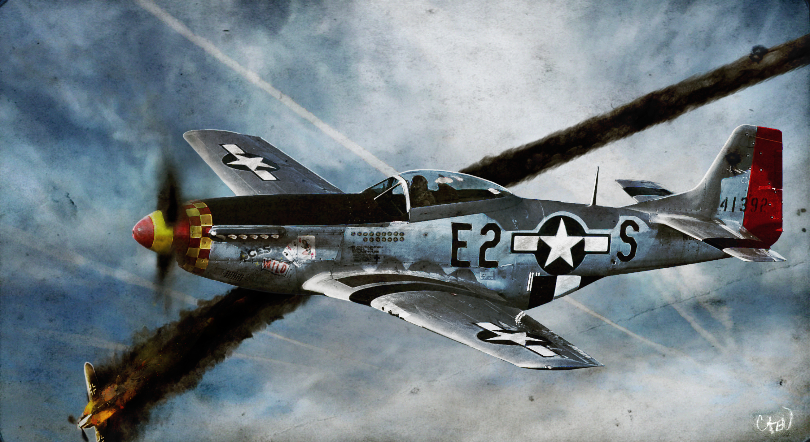 North American P 51 Mustang Computer Wallpapers Desktop Backgrounds 2615x1428