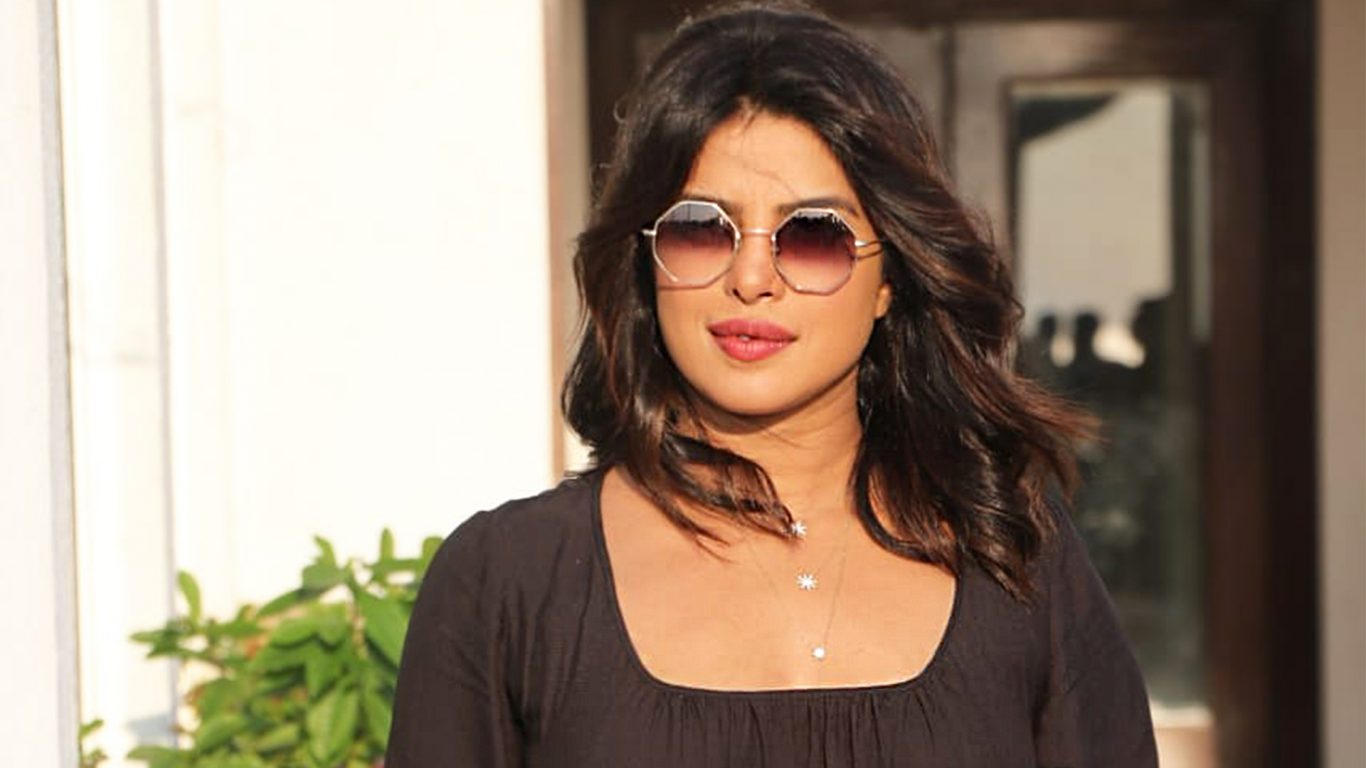 Priyanka Chopra promotes The Sky Is Pink in a black crop top 1366x768