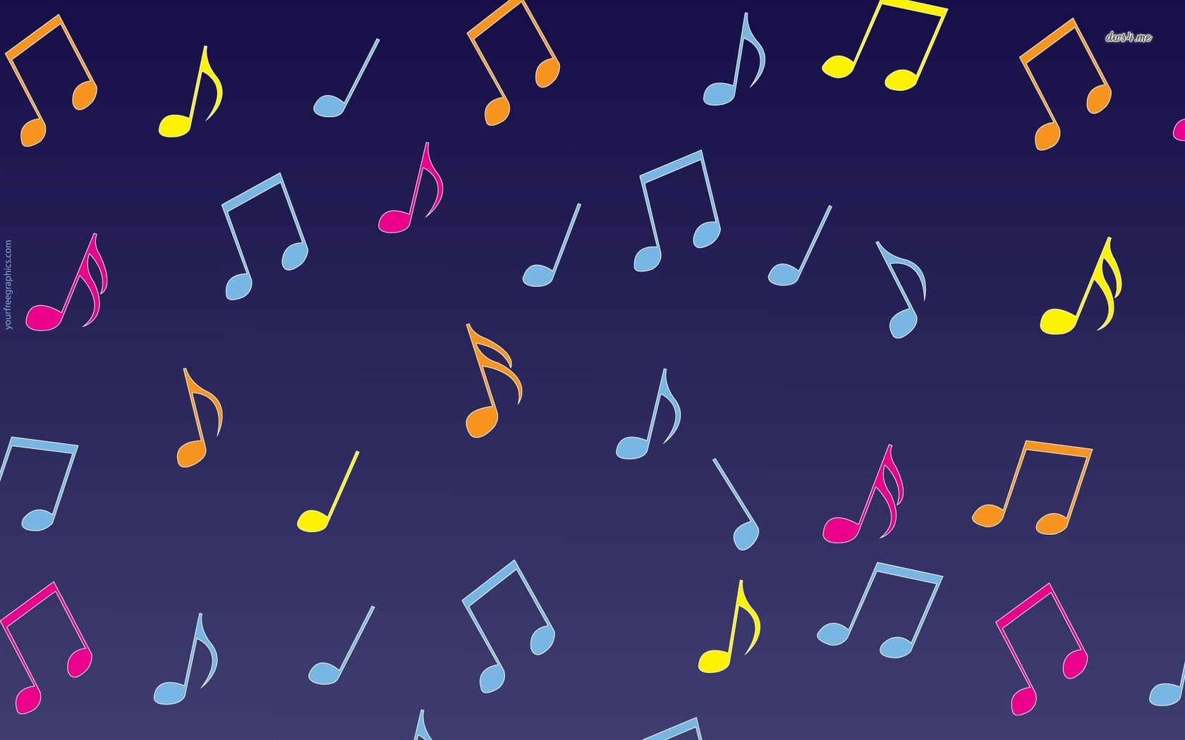 Musical notes wallpaper   Music wallpapers   8079 1680x1050