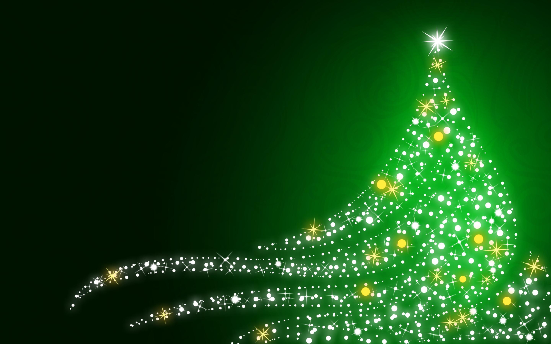 Christmas wallpapers Shimmering Christmas tree on Christmas  green 2880x1800