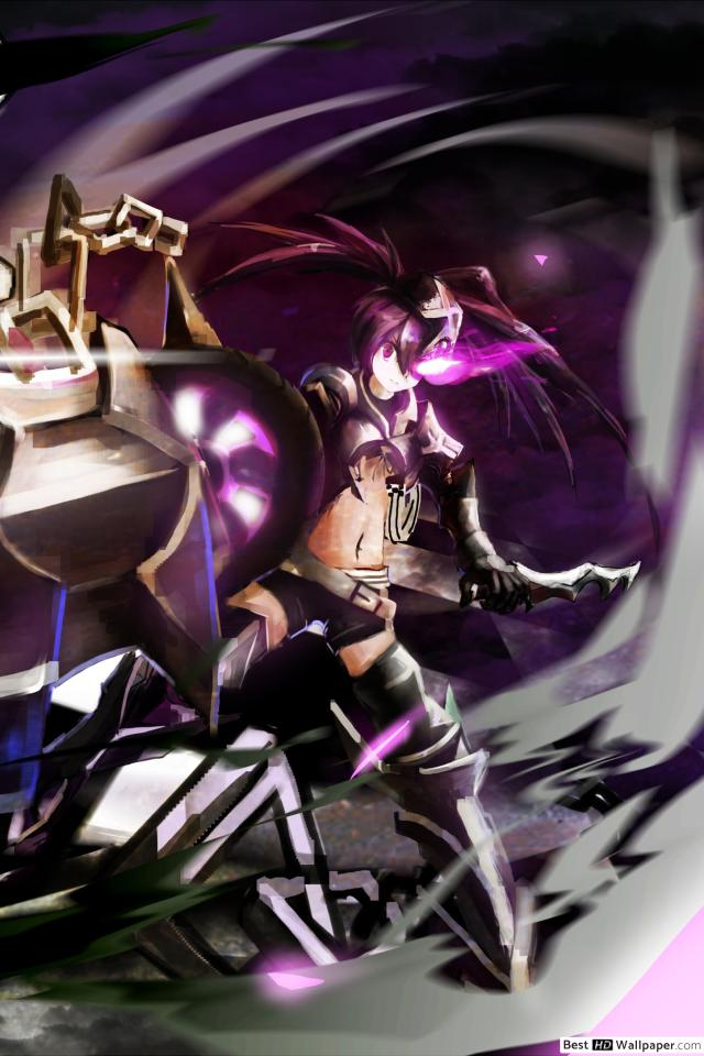 IBRS Black Rock Shooter HD wallpaper download 640x960